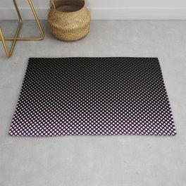 Pink and Black Diamond Pattern Rug