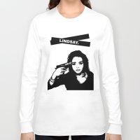lindsay lohan Long Sleeve T-shirts featuring Lindsay Lohan. by 161926