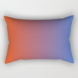 Orange and Blue Rectangular Pillow