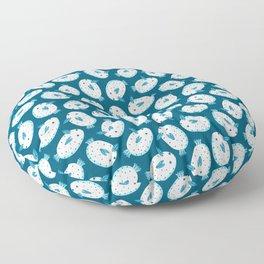 Sea Bunnies_Blue Floor Pillow