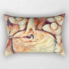 Sketchy Candle 1 Rectangular Pillow