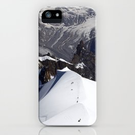 Team of mountaineers iPhone Case