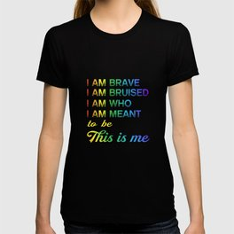 LGBT T-Shirt This is Me Inspirational LGBT Pride T-shirt