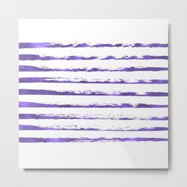 Ultraviolet brush strokes Metal Print