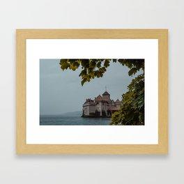 swiss chateau Framed Art Print