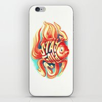 stay gold iPhone & iPod Skins featuring Stay Gold by Jared Yamahata