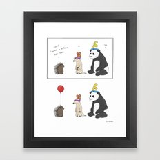 Everybody Deserves a Balloon Hat  Framed Art Print