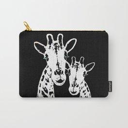 Giraffes Imprint Stamp Carry-All Pouch