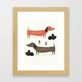 Wiener Dogs Framed Art Print