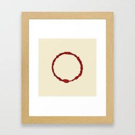 ink circle Framed Art Print