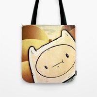 finn Tote Bags featuring Finn by Unihorse