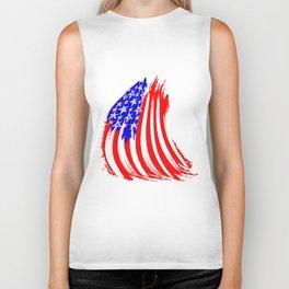 USA Sketched Flag Biker Tank