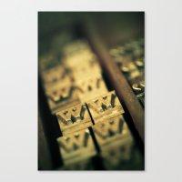 letters Canvas Prints featuring Letters by Jean-François Dupuis
