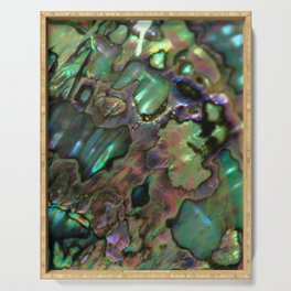Oil Slick Abalone Mother Of Pearl Serving Tray