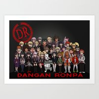 dangan ronpa Art Prints featuring Dangan Ronpa - Despair Survival Program by marisue