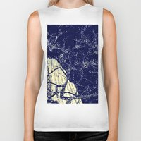the lights Biker Tanks featuring Lights by Maria Giorgi