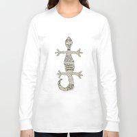 lizard Long Sleeve T-shirts featuring Lizard by NazreenNizamRao