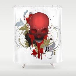 Beautiful Bleeding Skull Shower Curtain
