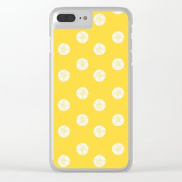 Sea Treasures Pattern Bright Yellow Clear iPhone Case