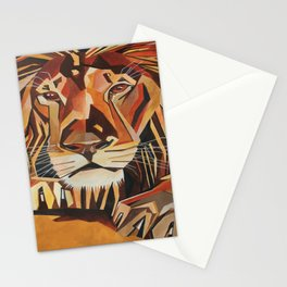 Lion Vector In Cubist Style Stationery Cards