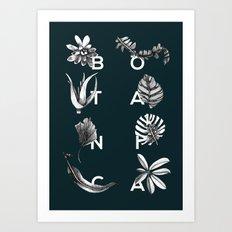 Botanica Letters | Forest Green Art Print