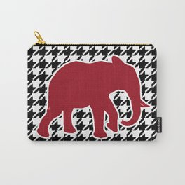 Houndstooth and Elephant Carry-All Pouch