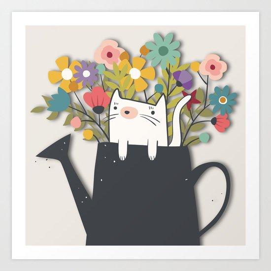 The Cat Is Back Art Print