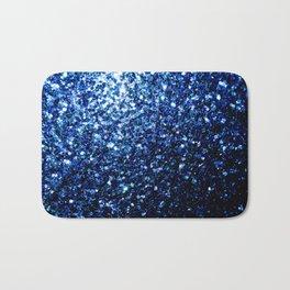 Beautiful Dark Blue glitter sparkles Bath Mat