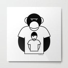 Monkey man tshirt Metal Print