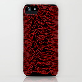 Joy Division - Unknown Pleasures [Red Lines] iPhone Case