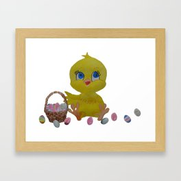 The Chocolate Loving Chicken at Easter Framed Art Print
