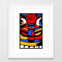 tiki Framed Art Prints featuring TIKI by AJ Camara