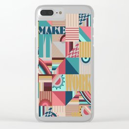 Make It Work Clear iPhone Case