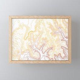 Contour Map of Bryce Canyon, Utah Framed Mini Art Print