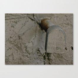 Post Drip Canvas Print