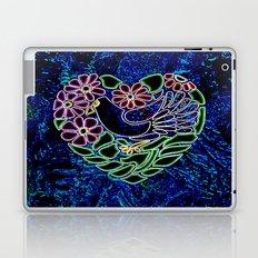 Gothic Bird in Heart Laptop & iPad Skin