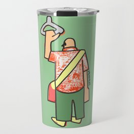 a man going to work to fill up the voids Travel Mug