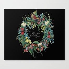 An Aussie Christmas BLACK Canvas Print