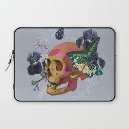 Gold Skull Butterfly Flower Laptop Sleeve