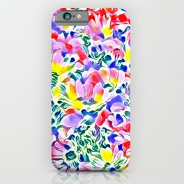 Floral Summer greetings 1A iPhone Case