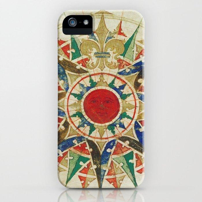 Vintage Compass Rose Diagram (1502) iPhone Case