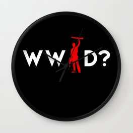 Evil Dead Army of Darkness Bruce Campbell: What Would Ash Do? Wall Clock