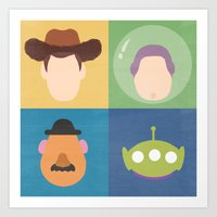 toy story Art Prints featuring Toy Story by Raquel Segal
