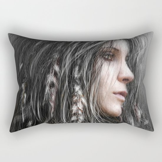 Feathers in Her Hair Rectangular Pillow
