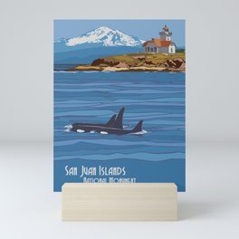Vintage Poster - San Juan Islands National Monument, Washington (2015) Mini Art Print