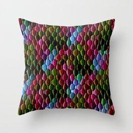Colored Cobblestones... Throw Pillow