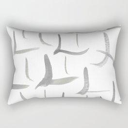 Watercolor L's - Grey Gray Rectangular Pillow