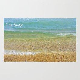 I'm Busy / Beach Rug