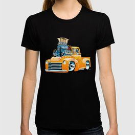 American Classic Hotrod Pickup Truck Cartoon T-shirt
