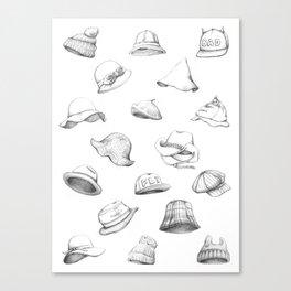 Muous Hats Canvas Print